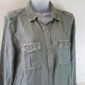 American Eagle Outf... button up shirt dress NWT